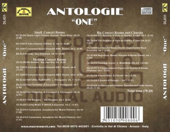 03 DL031 inlay posteriore stampa laser CD web 350x273 Antologie One   (DL031)