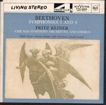 Beethoven front 350x345 Beethoven   Sinfonia N.1 & N.9    Conductor: Fritz Reiner   (012)