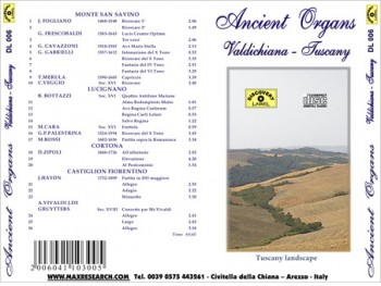 ancient organ back 350x263 Ancient Organs   Valdichiana   Arezzo   Tuscany (DL006)