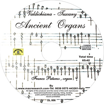 ancient organ cd Ancient Organs   Valdichiana   Arezzo   Tuscany (DL006)