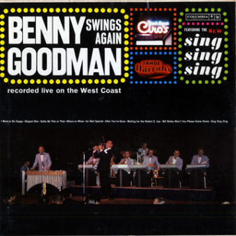 benny front SWINGS AGAIN   Benny Goodman (010)