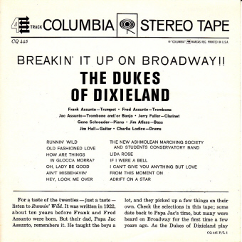 breakin back BREAKIN' IT UP ON BROADWAY!!   Dukes Of Dixieland (009)