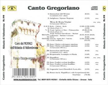 canto gregoriano back 350x275 Il Canto Gregoriano   Abbazia  di Vallombrosa (DL010)