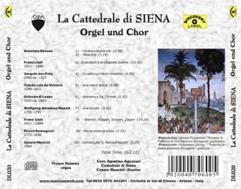 cattedrale siena back 350x275 La Cattedrale di Siena   Orgel un Chor (DL020)