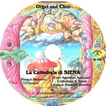 cattedrale siena cd La Cattedrale di Siena   Orgel un Chor (DL020)