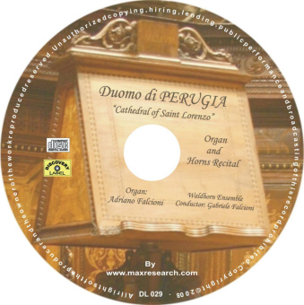 dumo perugia cd La Cattedrale di Perugia   Organ and Horns Recital (DL029)