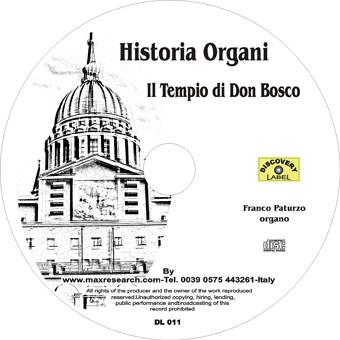 historia organi cd Historia Organi    Tempio Don Bosco (DL011)