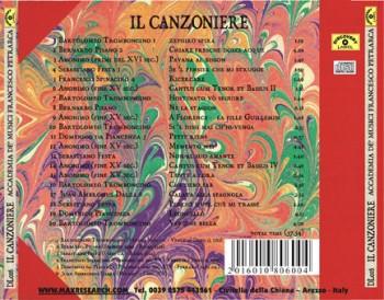 il canzoniere back 350x274 Il Canzoniere   Accademia De Musici   Francesco Petrarca (DL016)
