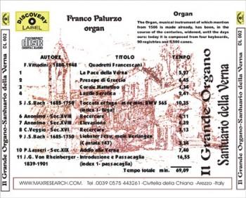 la verna back 350x282 Il Grande Organo   Santuario Della Verna (DL002)