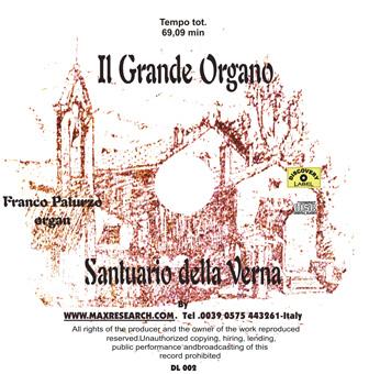 la verna cd Il Grande Organo   Santuario Della Verna (DL002)
