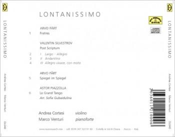 lontanissiomo back 350x275 Lontanissimo   Andrea Cortesi, Marco Venturi (DL036)