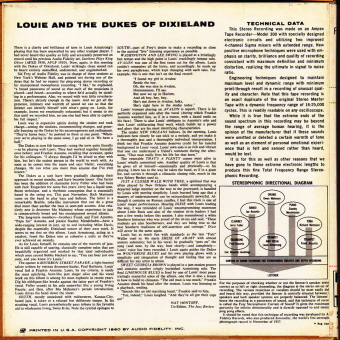 louis back LOUIS AND THE DUKES OF DIXIELAND    Louis Armstrong (002)