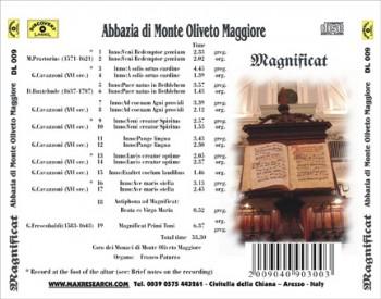 magnificat back 350x275 Magnificat   Abbazia Di Monte Oliveto Maggiore (DL009)