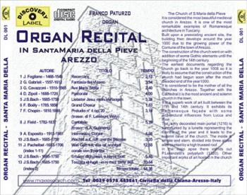 organ recital back 350x276 Organ Recital   Santa Maria delle Grazie Arezzo (DL001)