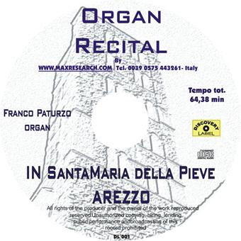 organ recital cd Organ Recital   Santa Maria delle Grazie Arezzo (DL001)