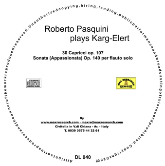 pasquini cd1 Roberto Pasquini Plays Karg Elert (DL040)