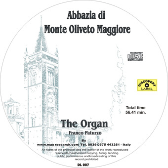 the organ cd The Organ   Abbazzia di Monte Oliveto Maggiore (DL007)