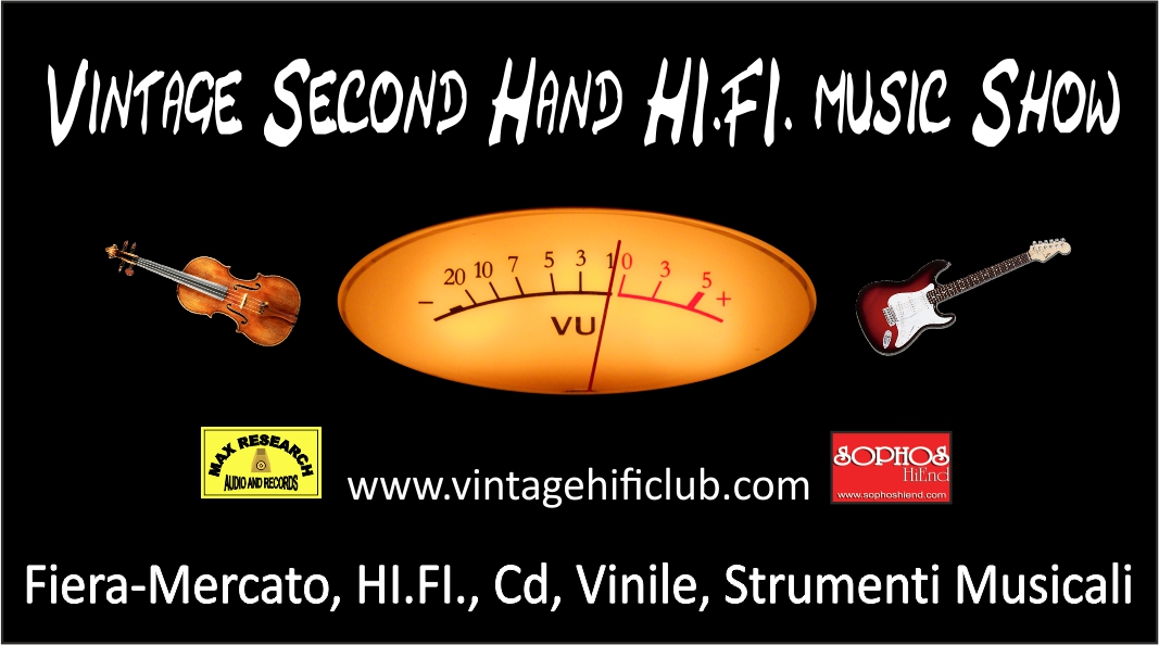 Vintage second hand 9 Vintage Second Hand HI.FI. Music Show
