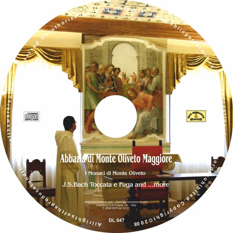 07 DL047 stampa su cd etichetta cd jpg per web 800x800 Monastero Monte Oliveto Maggiore   J.S.Bach Toccata e Fuga and ...more (DL047)